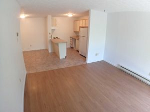 2 Bedrooms - Living room & kitchen - Oxford Residence - Affordable Rents in Lennoxville, Sherbrooke Spacious & clean apartments